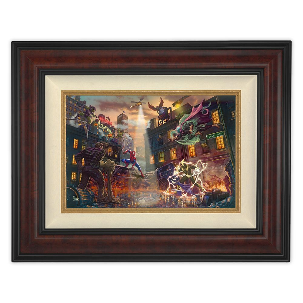 ''Spider-Man vs. The Sinister Six'' Framed Canvas by Thomas Kinkade Studios – Limited Edition