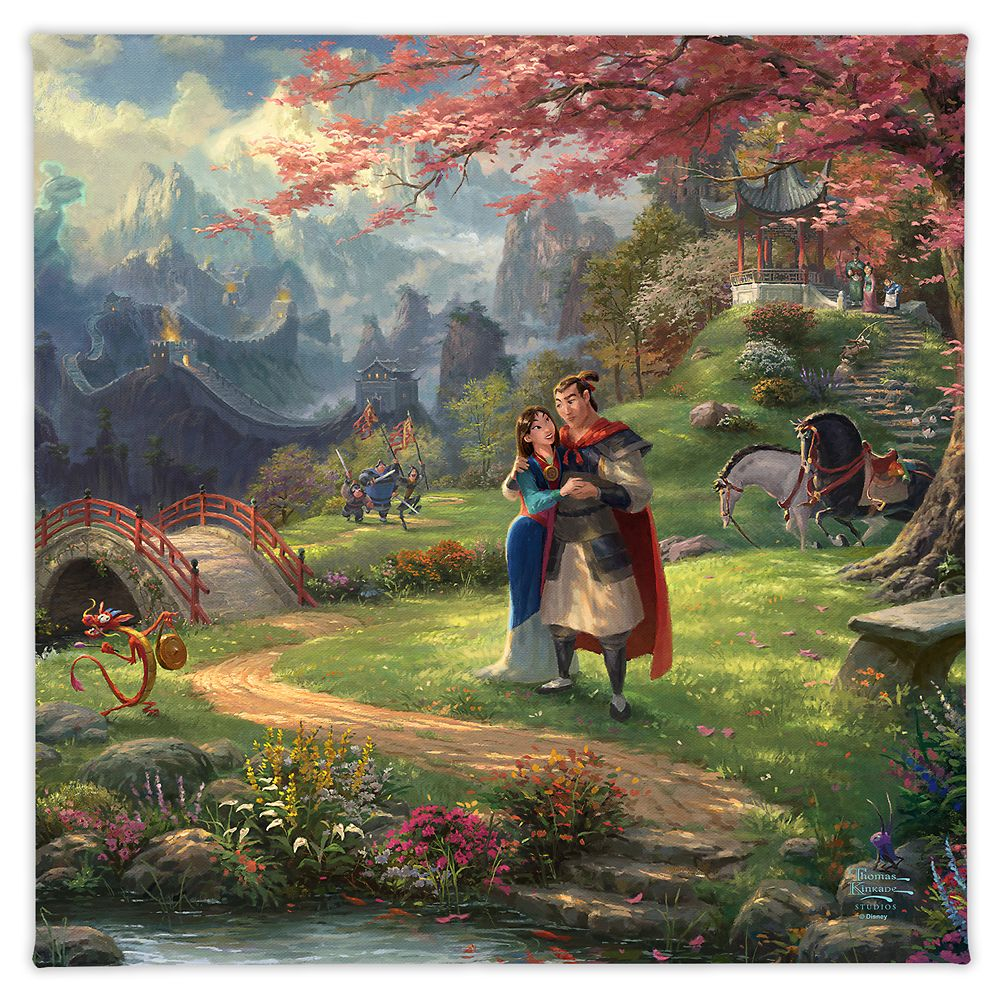 ''Mulan Blossoms of Love'' Gallery Wrapped Canvas by Thomas Kinkade Studios