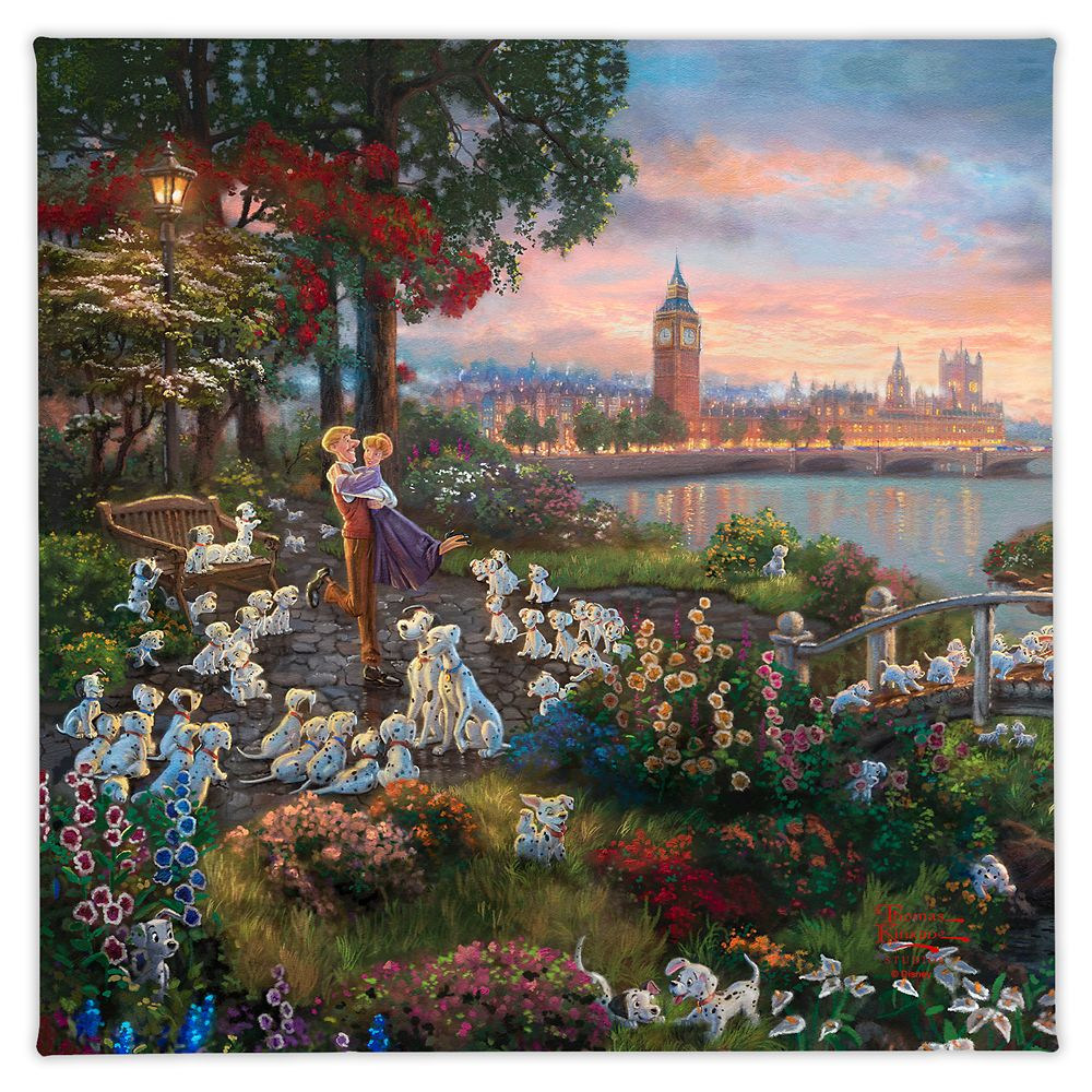 ''Disney 101 Dalmatians'' Gallery Wrapped Canvas by Thomas Kinkade Studios