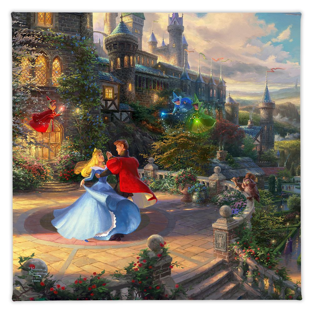 ''Sleeping Beauty Dancing in the Enchanted Light'' Gallery Wrapped Canvas by Thomas Kinkade Studios