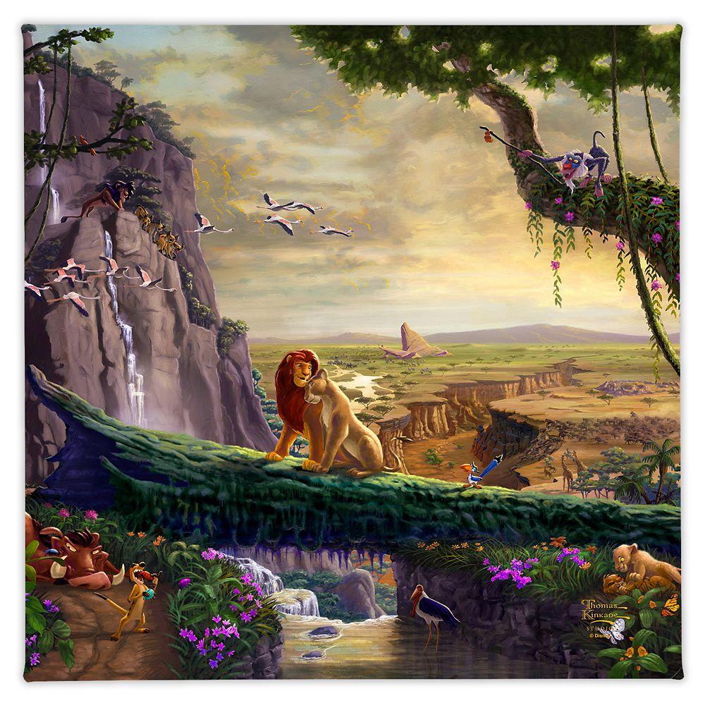 ''Lion King Return to Pride Rock'' Gallery Wrapped Canvas by Thomas Kinkade Studios