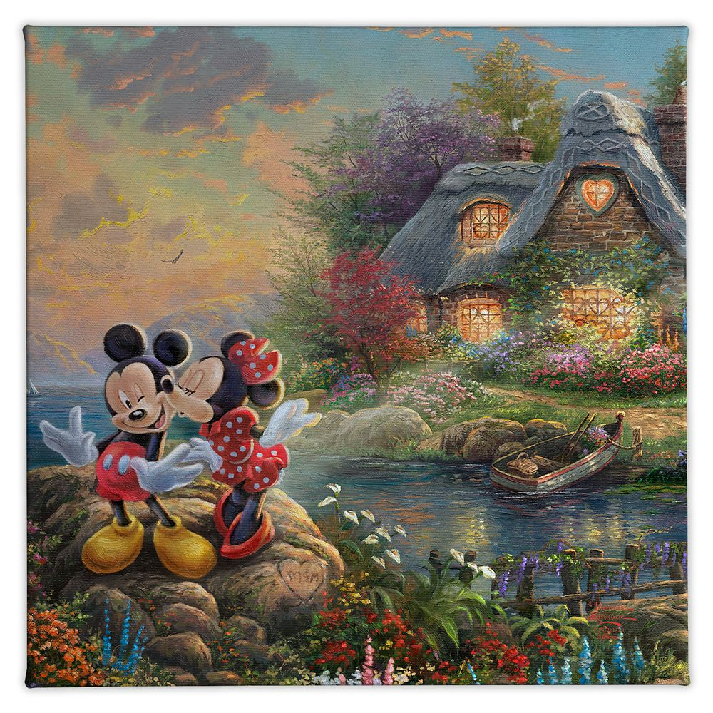 ''Mickey and Minnie Sweetheart Cove'' Gallery Wrapped Canvas by Thomas Kinkade Studios