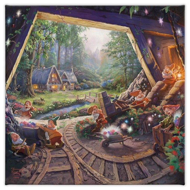 ''Snow White and the Seven Dwarfs'' Gallery Wrapped Canvas by Thomas Kinkade Studios