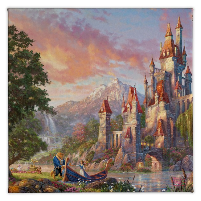 ''Beauty and the Beast II'' Gallery Wrapped Canvas by Thomas Kinkade Studios