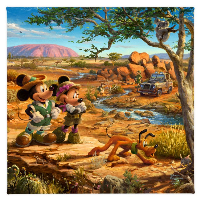 ''Mickey and Minnie in the Outback'' Gallery Wrapped Canvas by Thomas Kinkade Studios