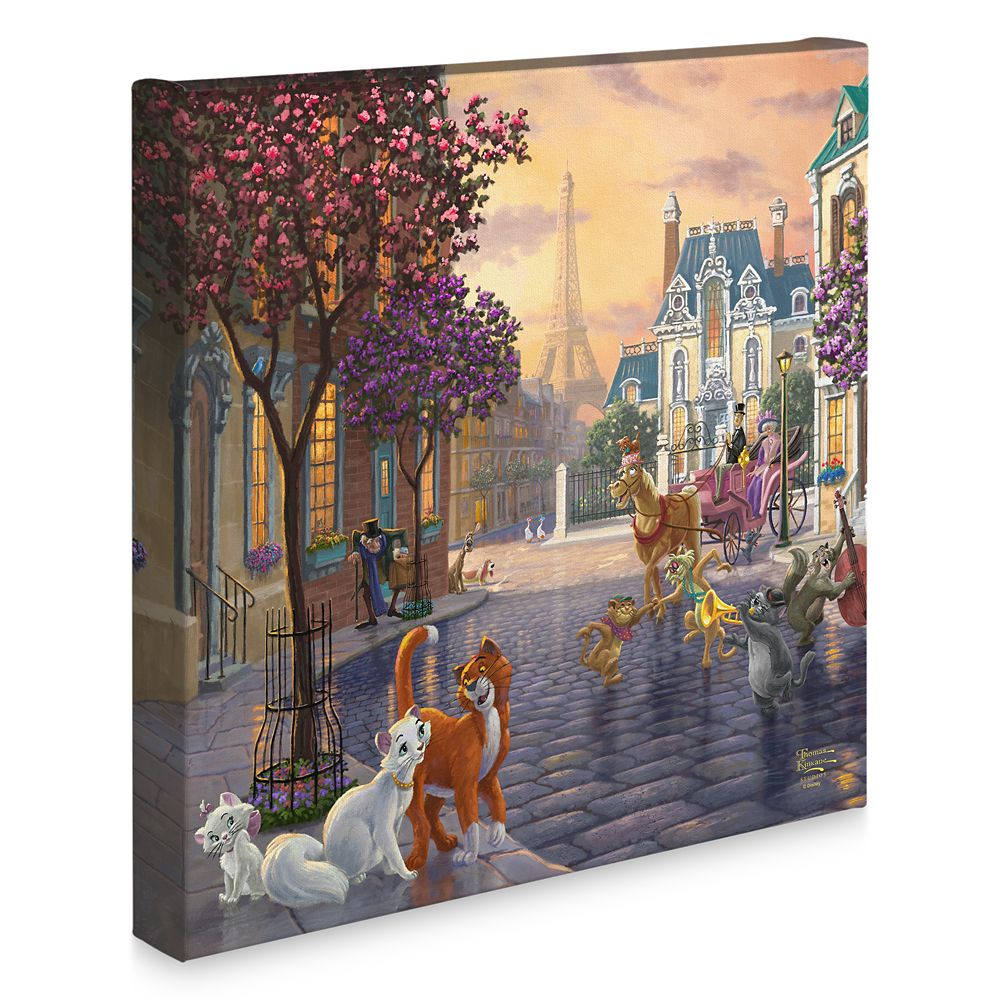 ''The Aristocats'' Gallery Wrapped Canvas by Thomas Kinkade Studios