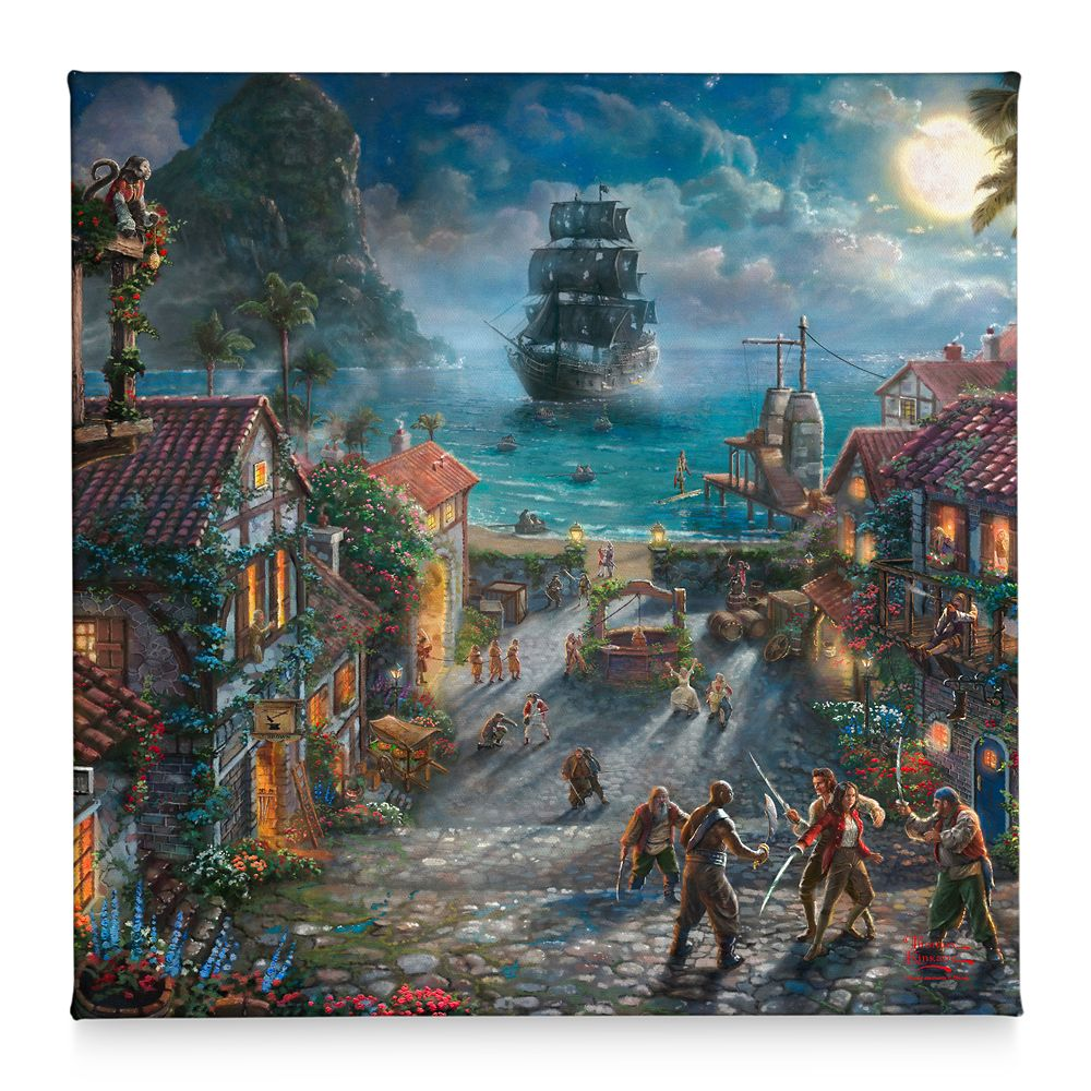 ''Pirates of the Caribbean: The Curse of the Black Pearl'' Gallery Wrapped Canvas by Thomas Kinkade Studios