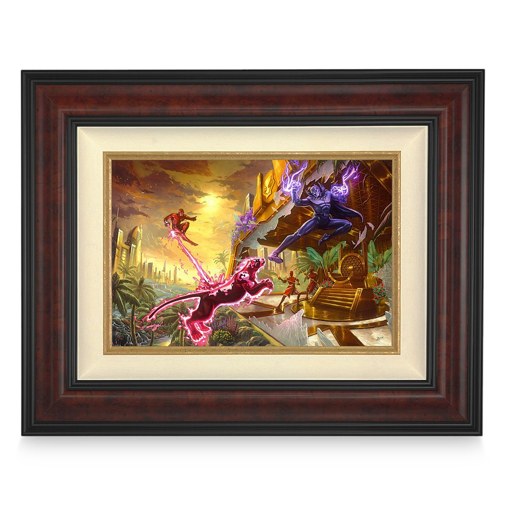 ''Black Panther'' Framed Limited Edition Canvas by Thomas Kinkade Studios