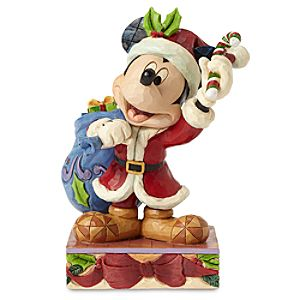 Santa Mickey Mouse Bringing Holiday Cheer Figure by Jim Shore