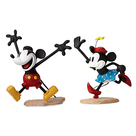 Mickey and Minnie Mouse ''Get a Horse'' Maquette Set - Walt Disney Archives Collection - Limited Edition