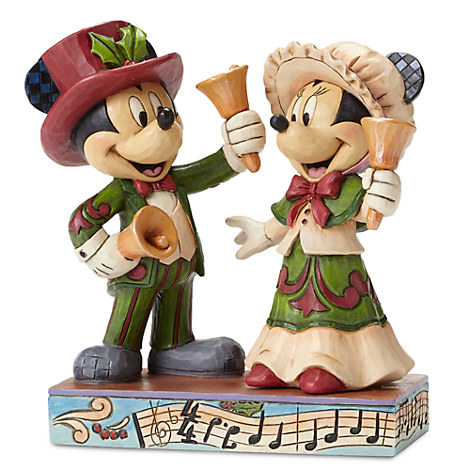 Victorian Mickey and Minnie Mouse ''Ringing in the Holidays'' Figure by Jim Shore