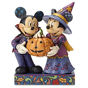 Mickey and Minnie Mouse Halloween Hosts Figure by Jim Shore