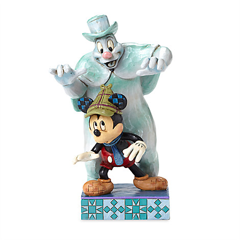 Mickey Mouse with Lonesome Ghost ''Spooked'' Figure by Jim Shore