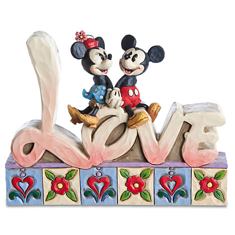 ''Love'' Minnie and Mickey Mouse Figurine by Jim Shore
