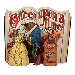 Beauty and the Beast Story Book Figurine