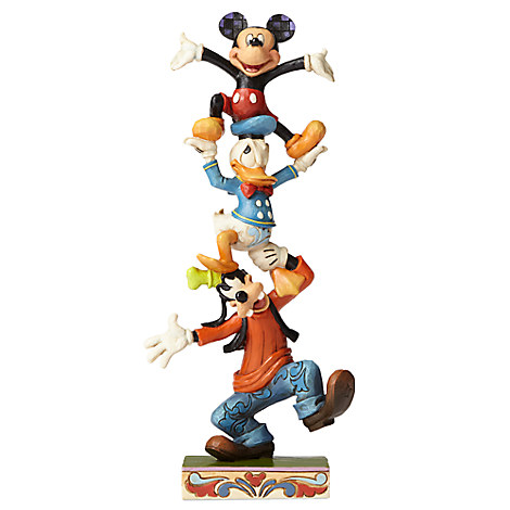Mickey Mouse and Friends ''Teetering Tower'' Figure by Jim Shore