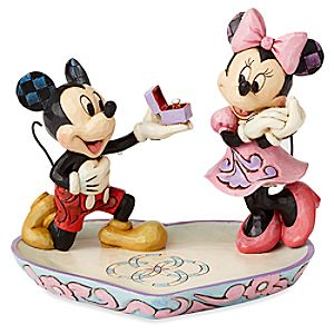 Mickey and Minnie Mouse Figure with Tray