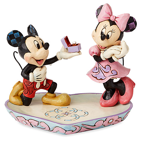 Mickey and Minnie Mouse Figure with Tray by Jim Shore