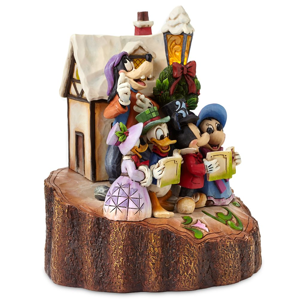 Mickey Mouse and Friends ''Holiday Harmony'' Light-Up Figure by Jim Shore
