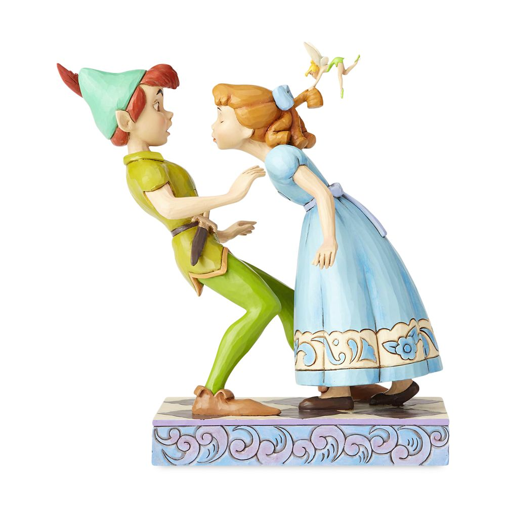 Peter Pan, Wendy & Tinker Bell ''An Unexpected Kiss'' Figure by Jim Shore