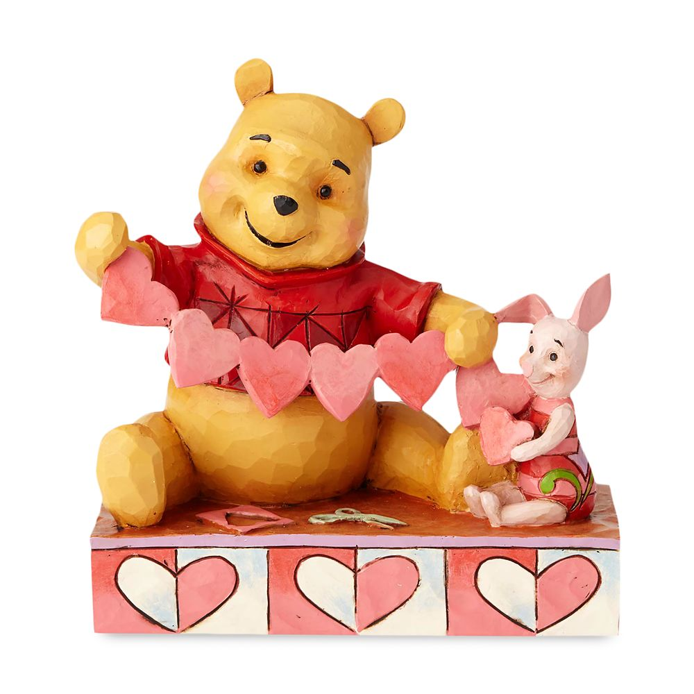 Winne the Pooh and Piglet ''Handmade Valentine'' Figure by Jim Shore Official shopDisney