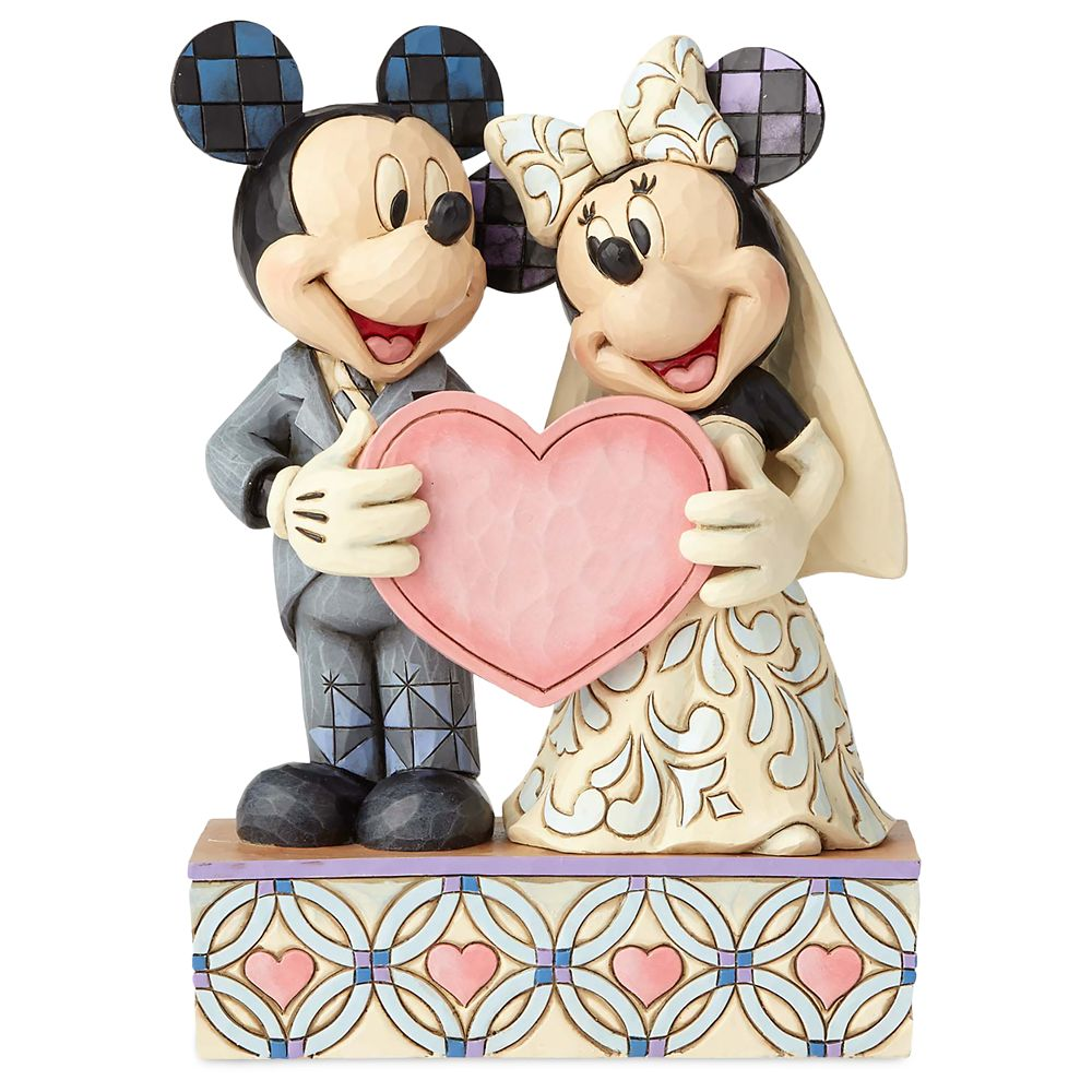 Mickey and Minnie Mouse ''Two Souls, One Heart'' Figure by Jim Shore
