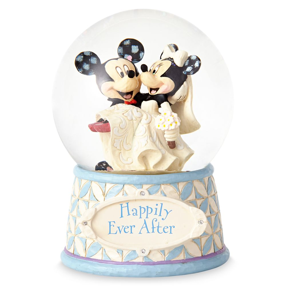 Mickey & Minnie Mouse ''Happily Ever After'' Snowglobe – Jim Shore