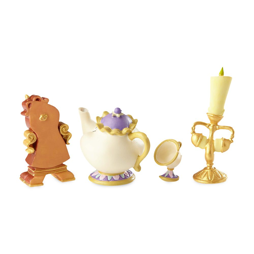 Enchanted Objects Couture de Force Figure Set by Enesco – Beauty and the Beast