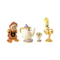 Disney Enchanted Objects Couture de Force Figure Set by Enesco - Beauty and the Beast