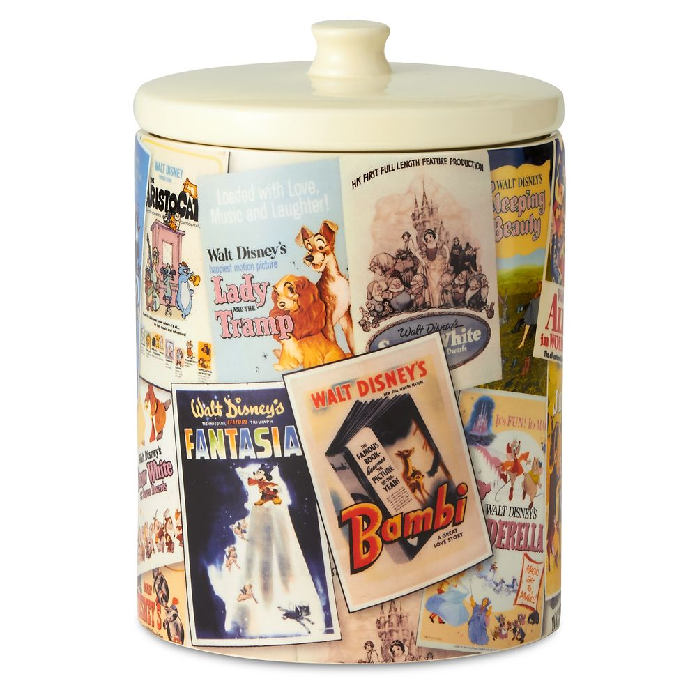 Walt Disney Classic Film Poster Collage Kitchen Canister