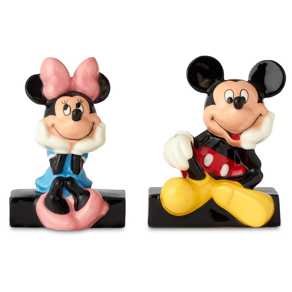 Mickey and Minnie Mouse Salt and Pepper Shaker Set