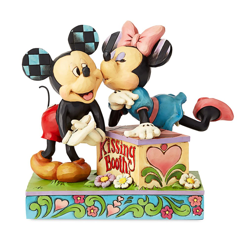 Mickey and Minnie Mouse ''Kissing Booth'' Figure by Jim Shore