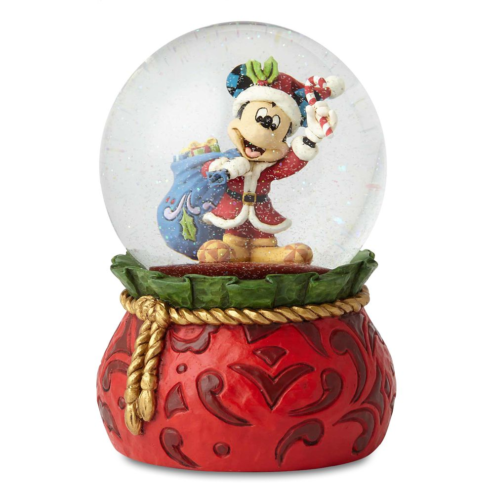 Santa Mickey Mouse ''Bringing Holiday Cheer'' Snowglobe by Jim Shore