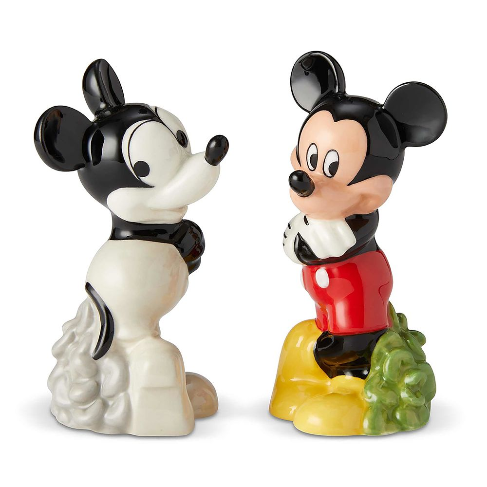 Mickey Mouse Then and Now Salt and Pepper Set
