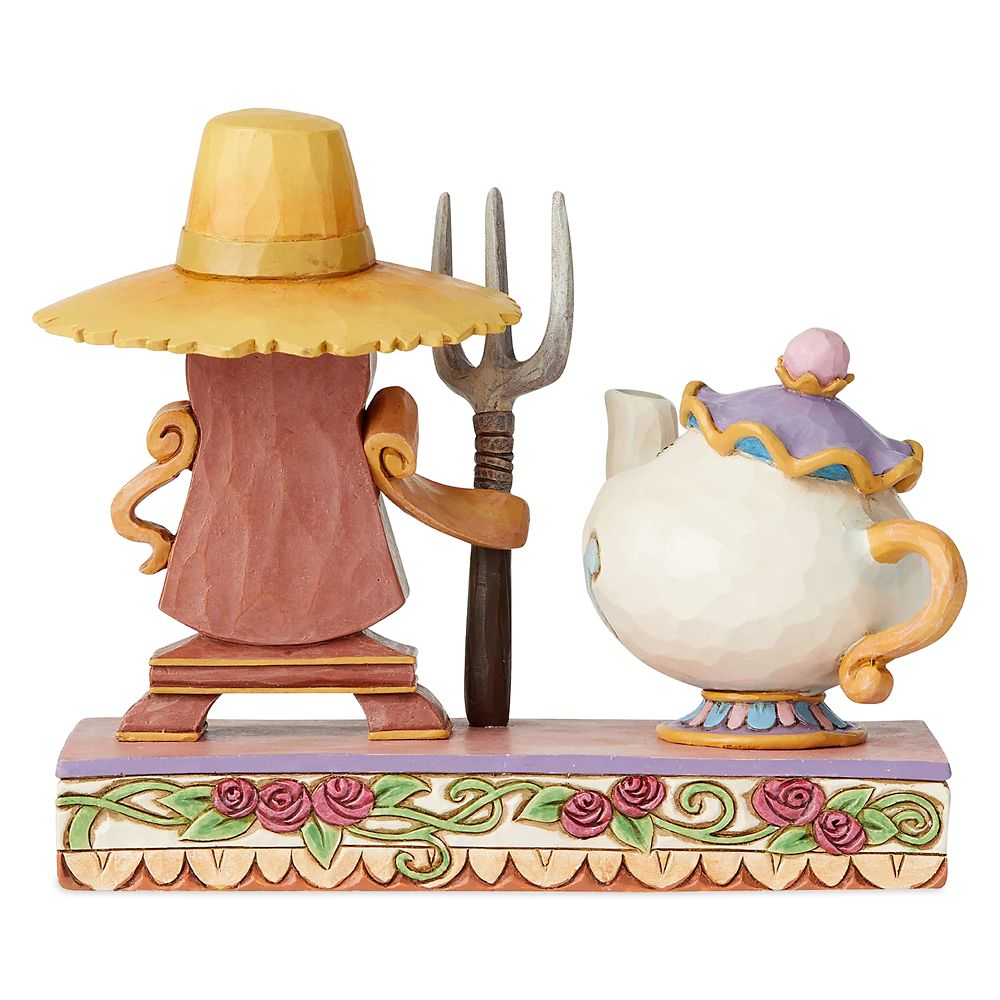 Mrs. Potts and Cogsworth Figure by Jim Shore – Beauty and the Beast