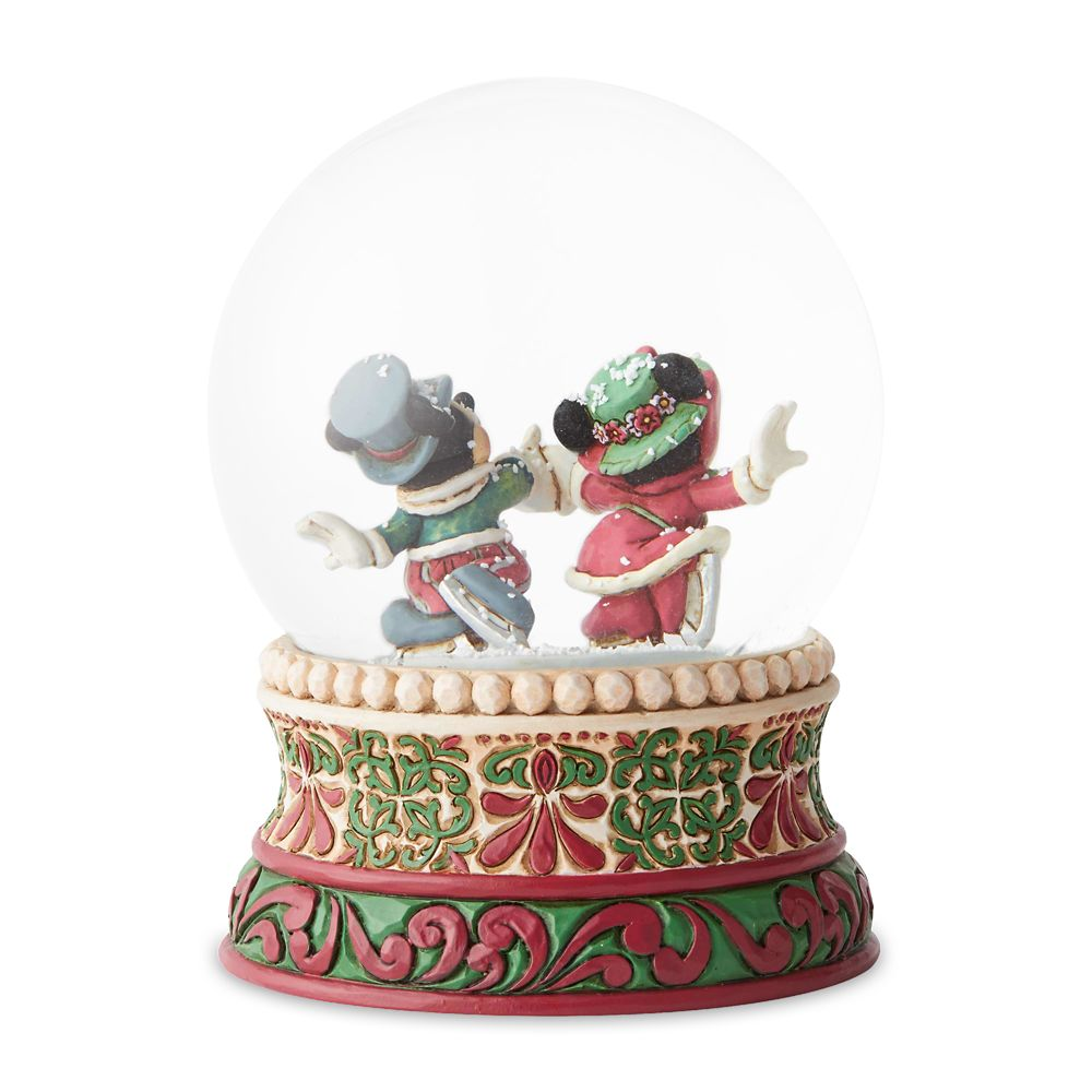 Mickey and Minnie Mouse Victorian Christmas Snowglobe by Jim Shore