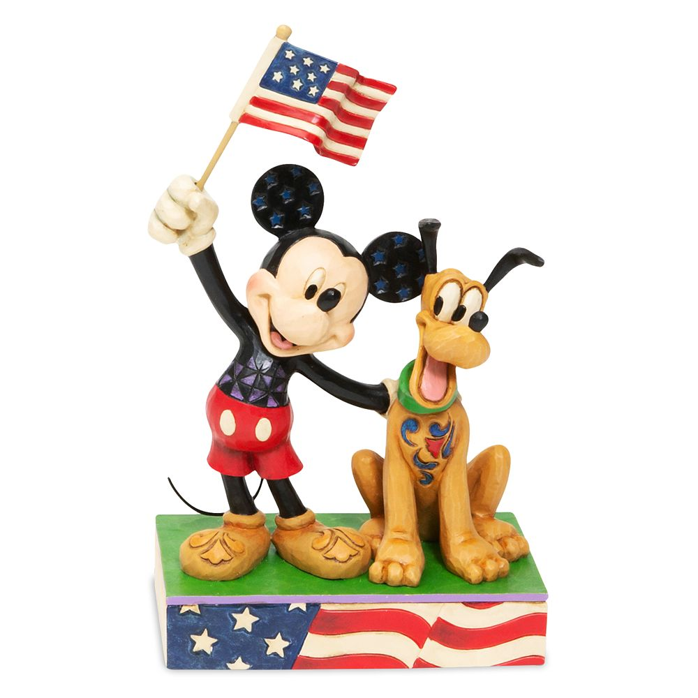 Mickey Mouse and Pluto ''A Banner Day'' Figurine by Jim Shore