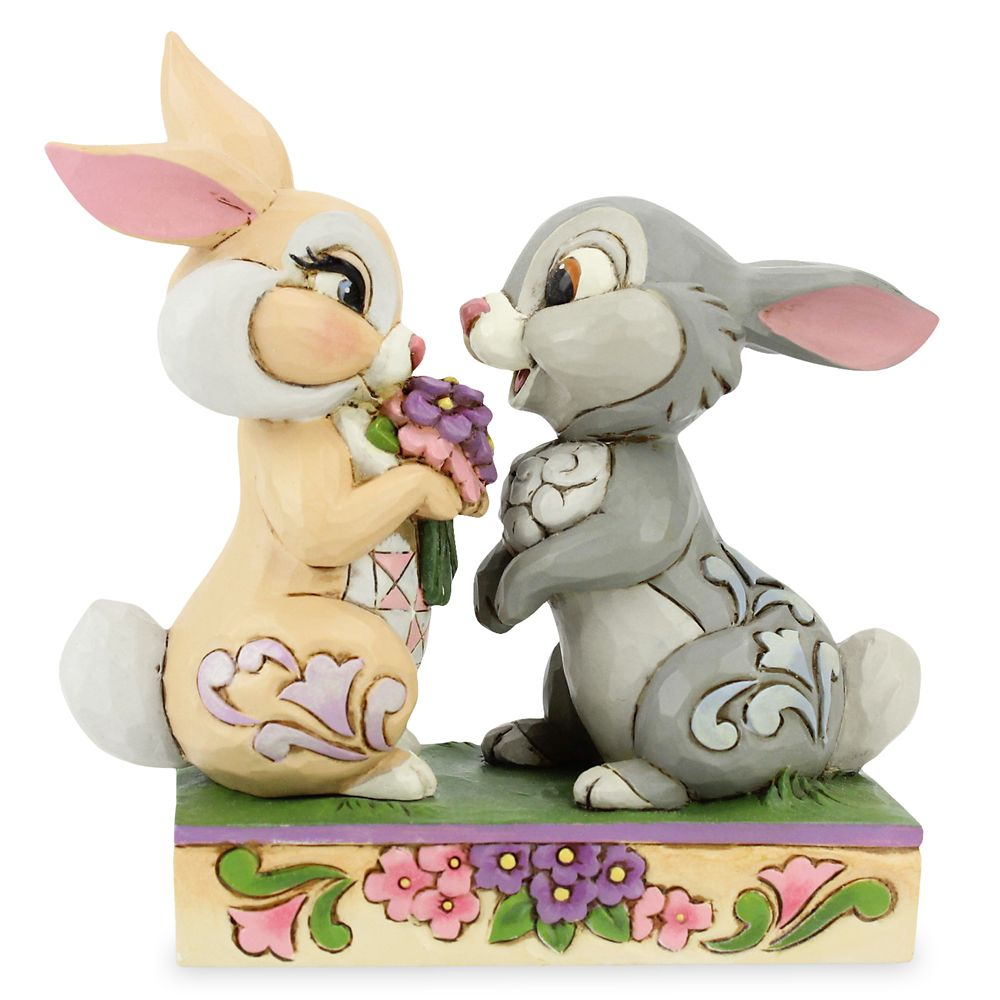 Thumper and Miss Bunny ''Bunny Bouquet'' Figure by Jim Shore – Bambi