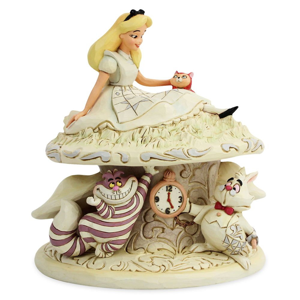 "Alice in Wonderland ""Whimsy and Wonder"" White Woodland Figure by Jim Shore Official shopDisney"