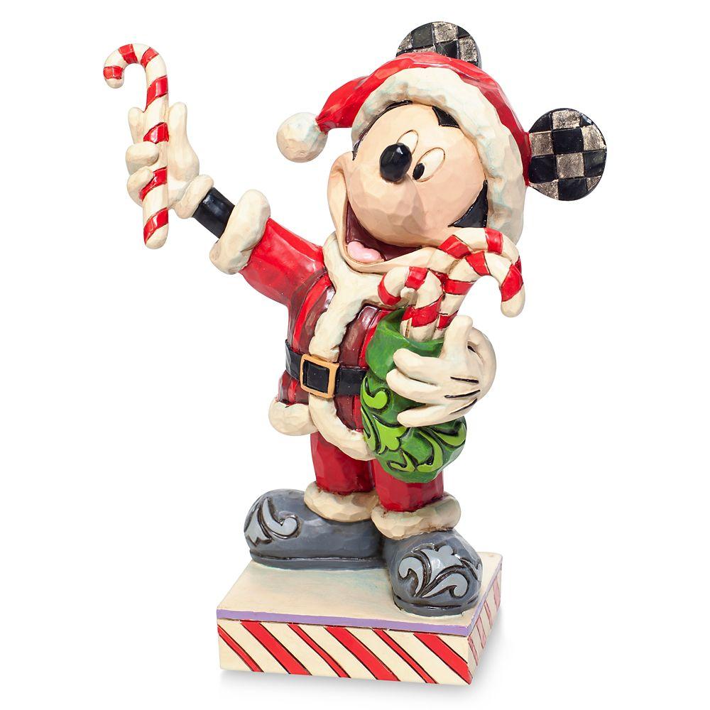 Santa Mickey Mouse ''Peppermint Surprise'' Figure by Jim Shore