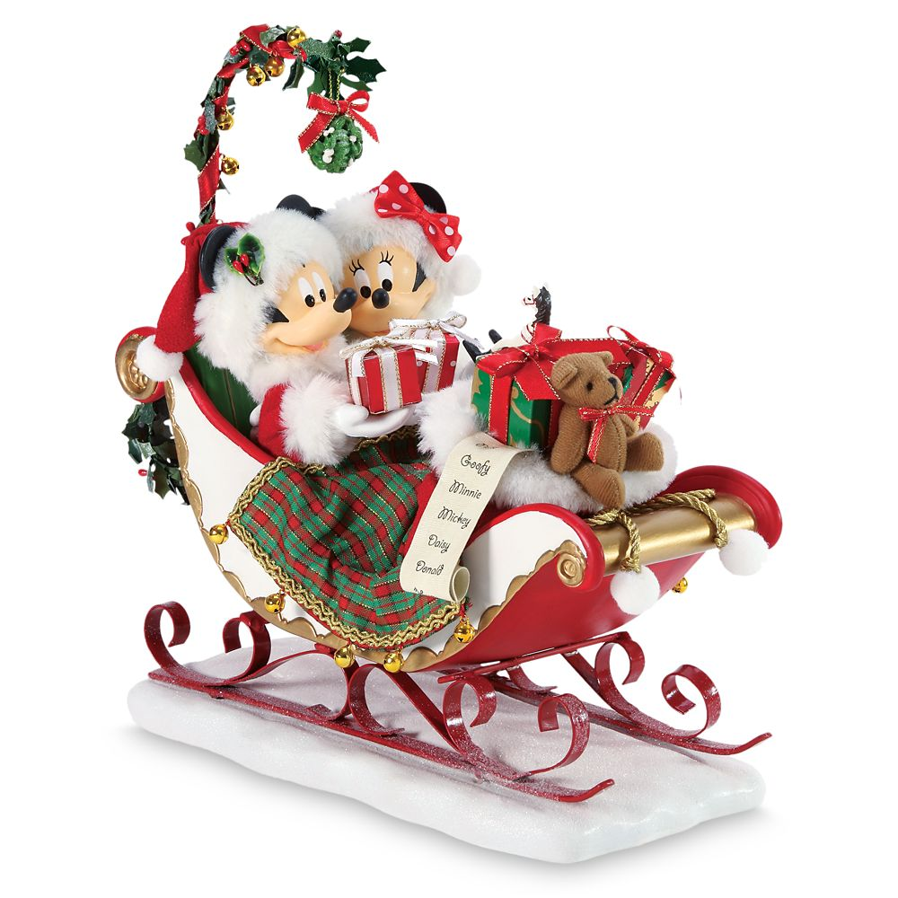 Mickey and Minnie Mouse ''Sleigh Bells and Mistletoe'' Holiday Figure by Department 56