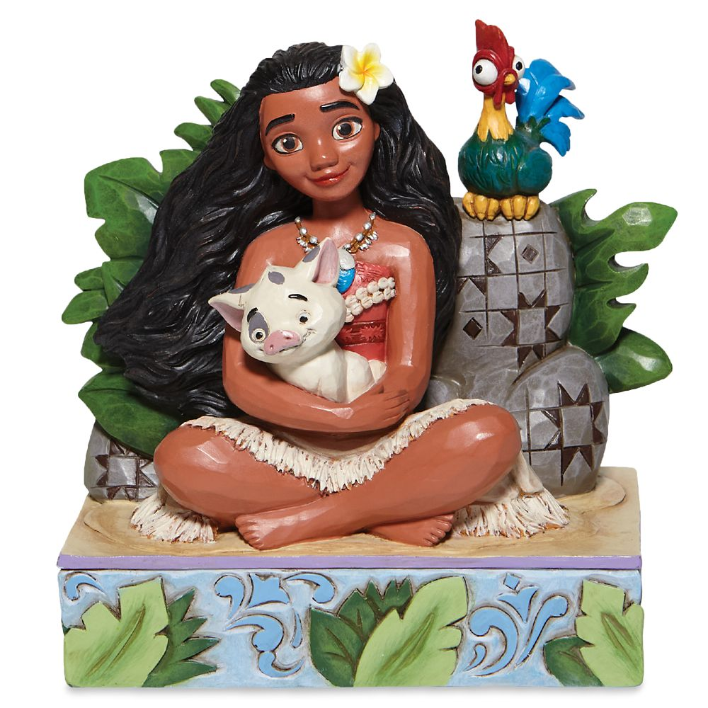 Moana, Pua, and Hei Hei ''Welcome to Motunui'' Figure by Jim Shore