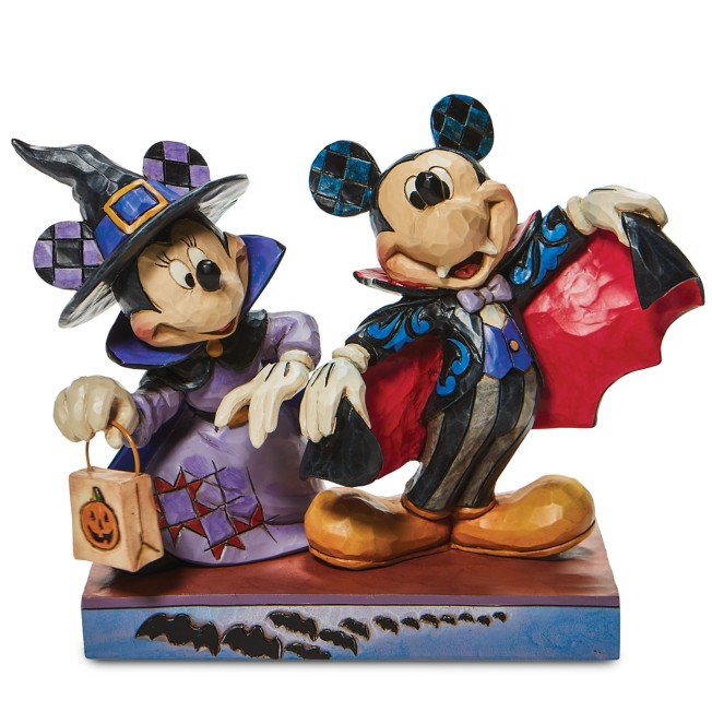 Mickey and Minnie Mouse ''Terrifying Trick-or-Treaters'' Figure by Jim Shore