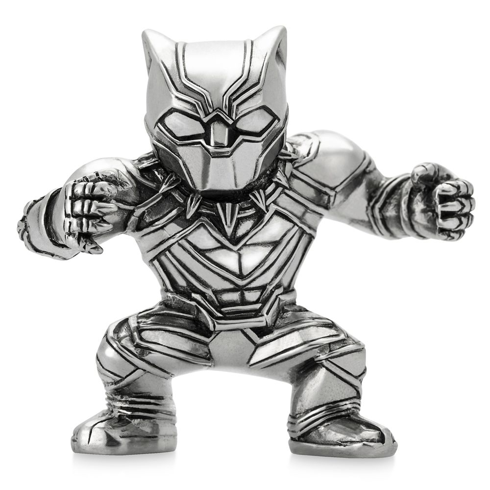 Black Panther Pewter Mini Figurine by Royal Selangor