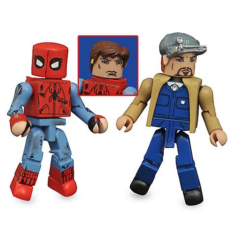 Spider-Man: Homecoming Minimates Set - Battle-Damaged Spider-Man and Tinkerer