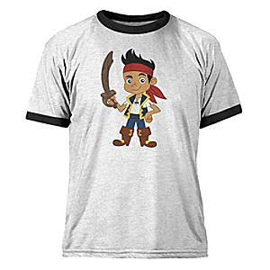 Jake and the Never Land Pirates Ringer Tee for Kids - Customizable