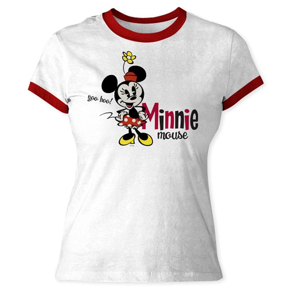 Mickey Mouse Shorts Ringer Tee for Women  Customizable Official shopDisney