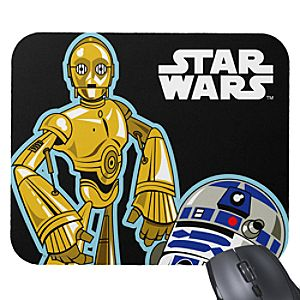 C-3PO and R2-D2 Mouse Pad – Customizable