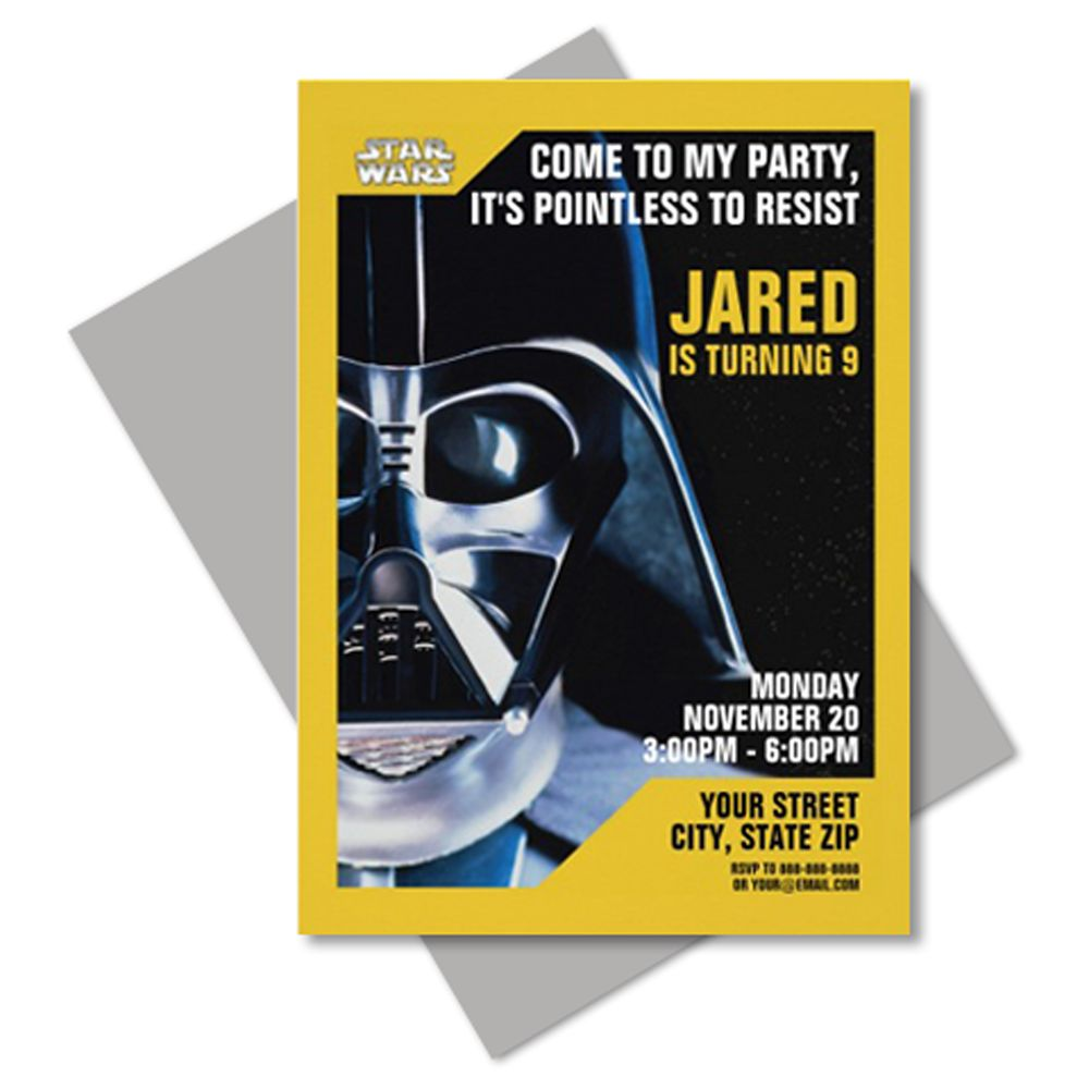 Darth Vader Invitation – Customizable
