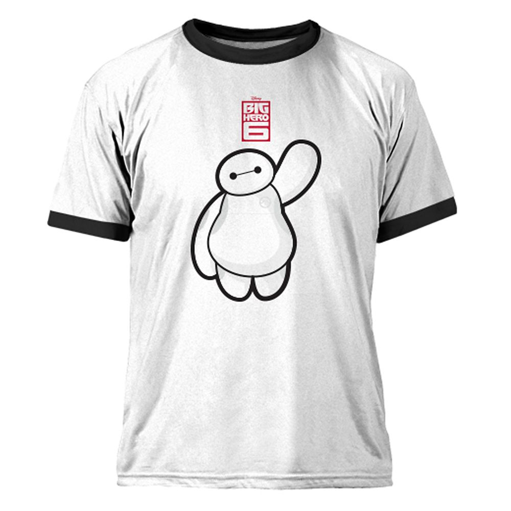 Big Hero 6 Baymax Ringer Tee for Men – Customizable